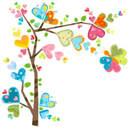 love and flower tree in spring