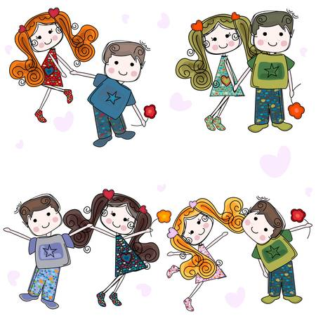 valentine couples, cute girls and boys
