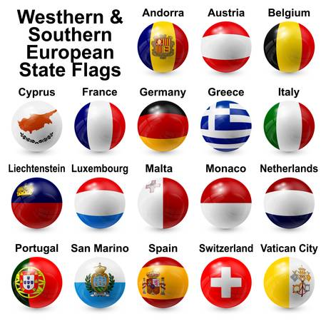 Western   Southern European State Flags