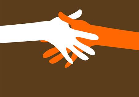Illustration pour hands together - image libre de droit