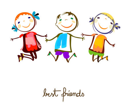 Illustration for best friends - Royalty Free Image
