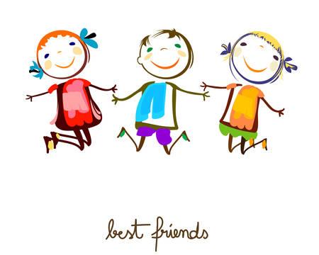 Illustration pour best friends - image libre de droit