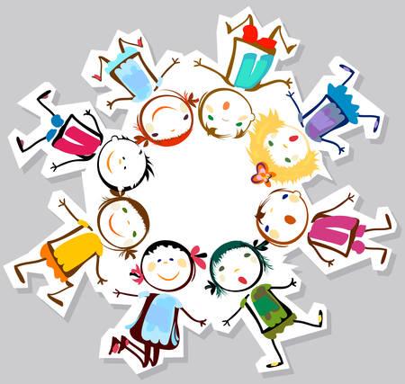 Illustration pour happy children - image libre de droit