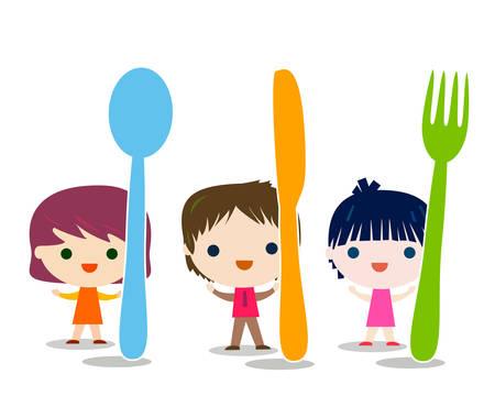 Illustration pour kids menu background illustration - image libre de droit