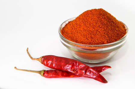 Photo for Dried red chilli and powder - Royalty Free Image