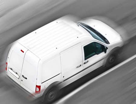 Foto de moving commercial car - Imagen libre de derechos