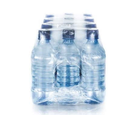 Foto für packed bottled water on white - Lizenzfreies Bild