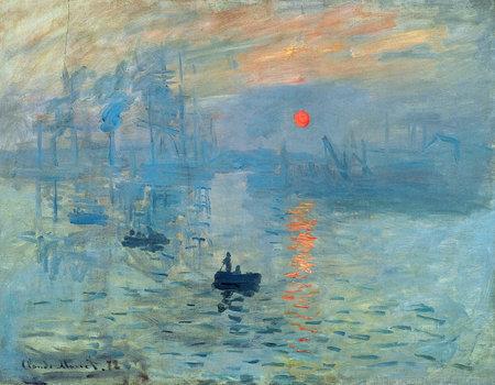 Photo pour the Impression Sunrise by Claude Monet 1872. the Museum Marmottan Monet in Paris - image libre de droit