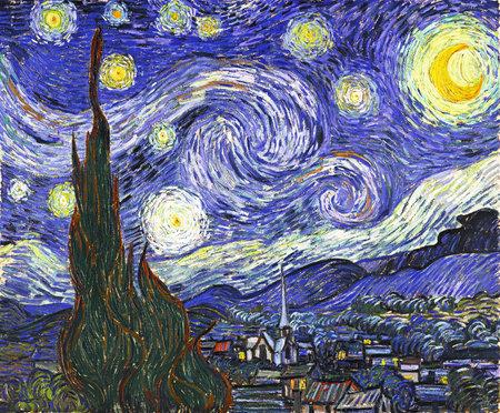 Foto de the Starry Night by Van Gogh 1889, Museum Of Modern Art in New York City - Imagen libre de derechos