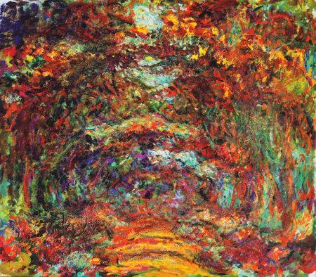 Photo pour My digital altered The Rose Walk by Claude Monet 1922, Museum Marmottan Monet, Paris - image libre de droit