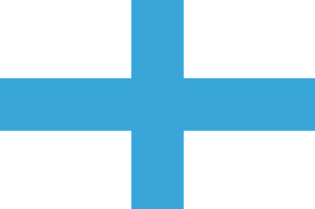 Flag of Marseille is a capital of the Bouches-du-Rhone department and Provence-Alpes-Cote d'Azur region in France. Vector illustration