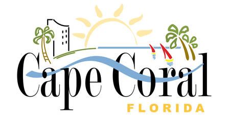 Coat of arms of Cape Coral is a city located in Lee County, Florida, United States. Vector illustration