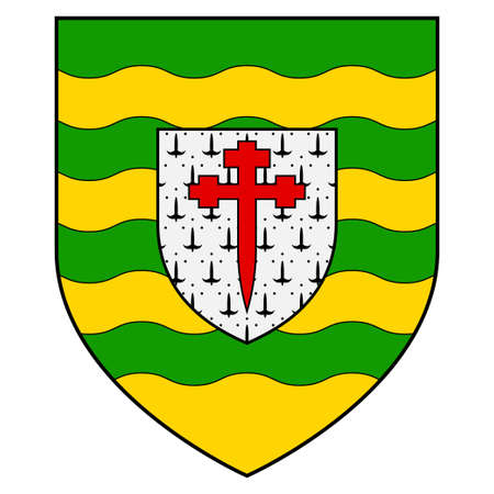 Flag of Killarney is a town in County Kerry, southwestern Ireland. Vector illustration