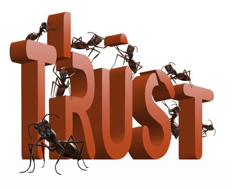 Foto de building trust or confidence honesty and respect - Imagen libre de derechos