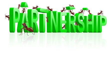 partnership alliance cooperation corporation building partners work together