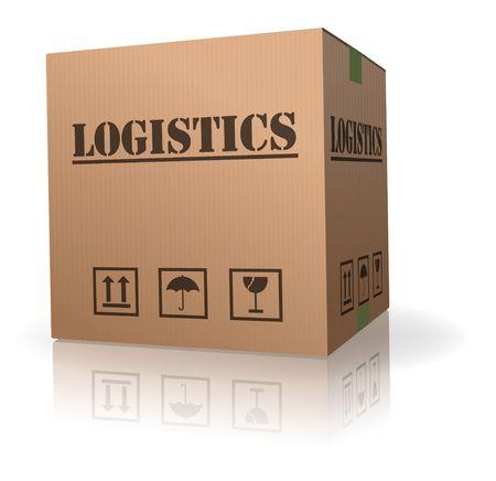 Foto de cardboard box logistics storage container - Imagen libre de derechos