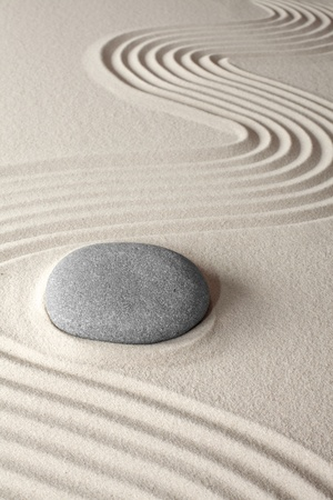 spiritual meditation background Japanes zen garden pebble and sand concept for purity wellness therapy and spa treatment
