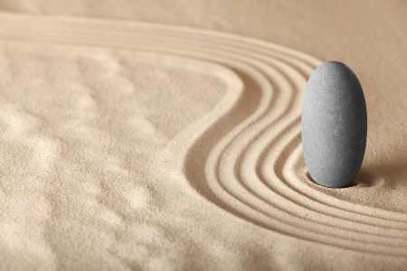 Photo pour zen garden symplicity and harmony form a background for meditation and relaxation, for balance and health - image libre de droit