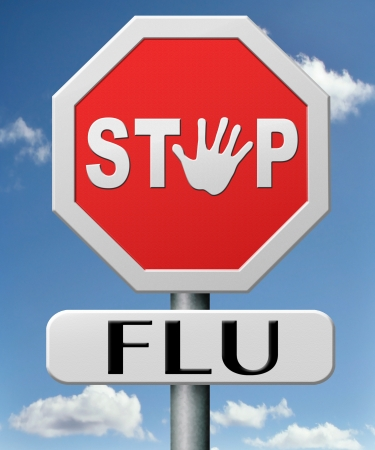 stop flu by vaccination or immunization shot with flu vaccin for prevention
