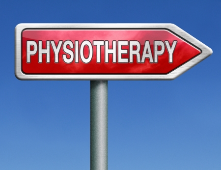 physiotherapy or physical therapy by therapist for rehabilitation after sports injury or accident