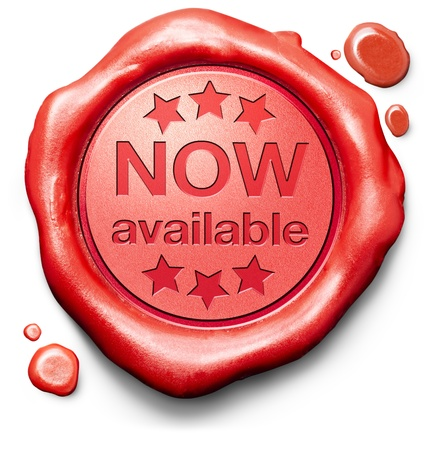 now available brand new product release red label icon or stamp