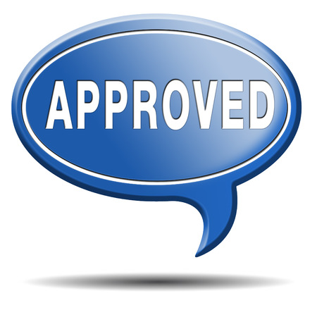 approved passed test and access granted approval and accepted accredited button or icon