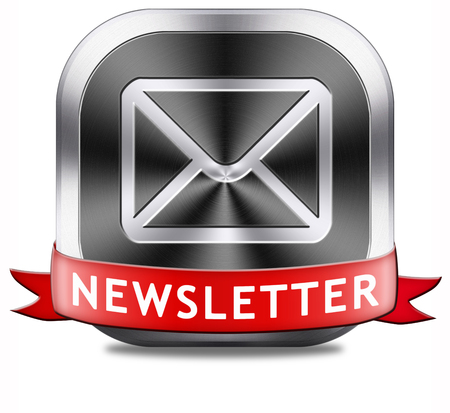 Breaking news in our latest newsletter. Sign or icon indicating new hot information.