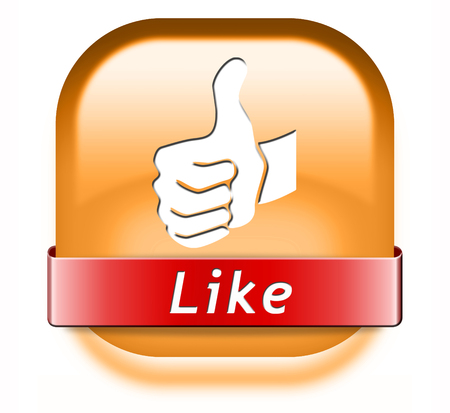like button and follow us thumbs up