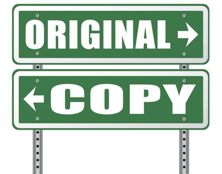 original idea or copycat cheap and bad copy or unique top quality product guaranteed road sign