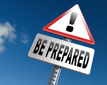 Foto de Be prepared and ready before the big change. Are you ready, it is time to plan ahead and in advance. - Imagen libre de derechos