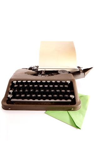 Typewriter and greener envelope