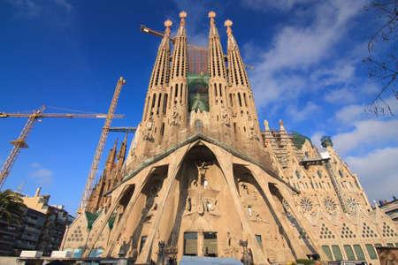 Foto de Amazing Image of the Cathedral of La Sagrada Famila in Barcelona. - Imagen libre de derechos