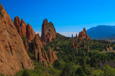 Beautiful Bright Image of  the Garden of the Gods