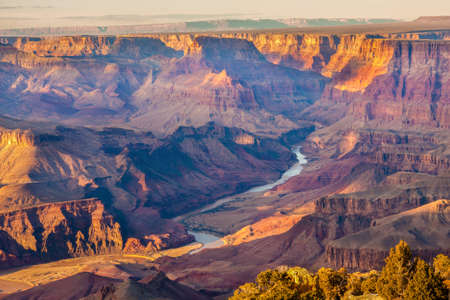 Beautiful Landscape of Grand Canyon from Desert View Point with the Colorado River visible