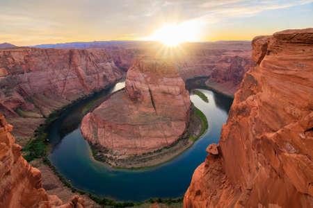 Foto de Amazing Vista of Horseshoe Bend in Page, Arizona - Imagen libre de derechos