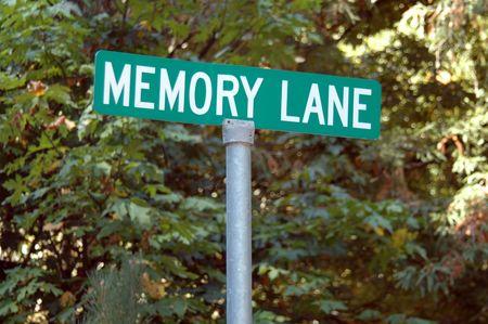 Memory Lane street sign