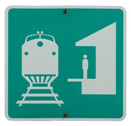 Railroad Station sign
