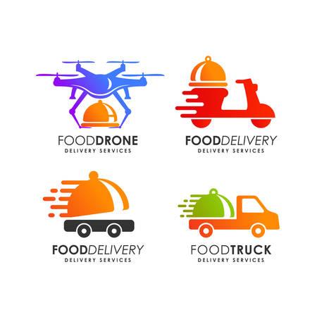 Ilustración de food delivery logo design template - Imagen libre de derechos
