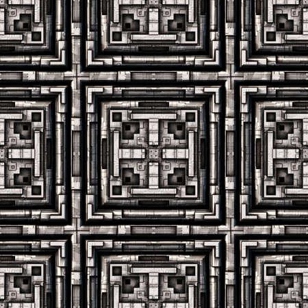Metal Background Pattern, Techno (Seamless-Tiling)