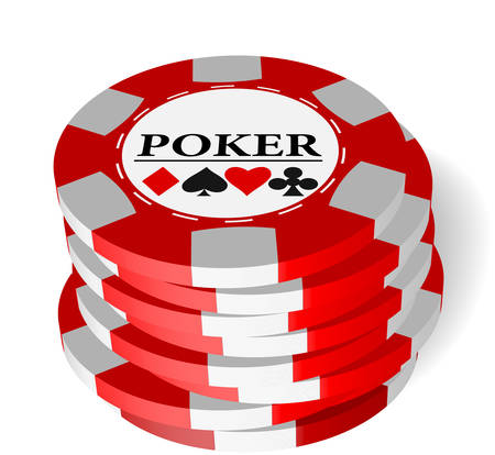 The vector illustration of gambling chips .