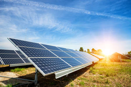 Photo for Solar panel, photovoltaic, alternative electricity source - concept of sustainable resources - Royalty Free Image