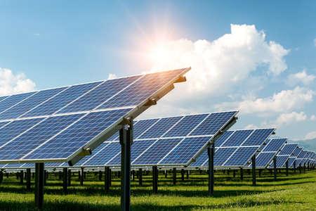 Photo pour Solar panel, photovoltaic, alternative electricity source - concept of sustainable resources - image libre de droit
