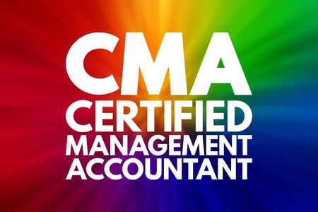 Photo for CMA - Certified Management Accountant acronym, business concept background - Royalty Free Image