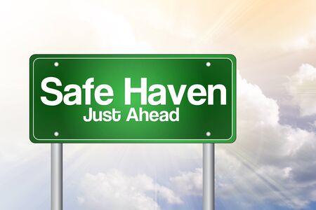 Safe Haven Green Road Sign Concept