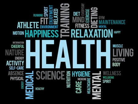 Photo for HEALTH word cloud concept - Royalty Free Image