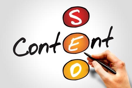 Photo pour Content SEO (Search Engine Optimization) acronym, business concept - image libre de droit