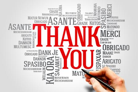 Foto für Thank You Word Cloud in different languages concept - Lizenzfreies Bild