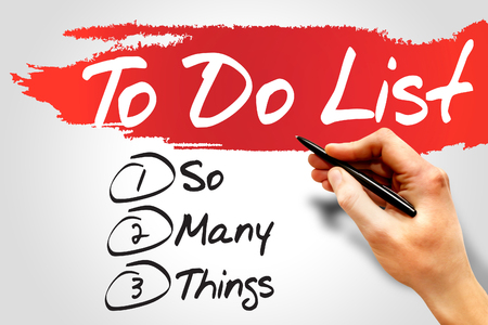 So Many Things in To Do List, business concept