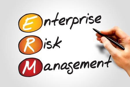 Enterprise Risk Management (ERM), business concept acronym