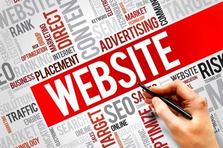 WEBSITE word cloud, business concept